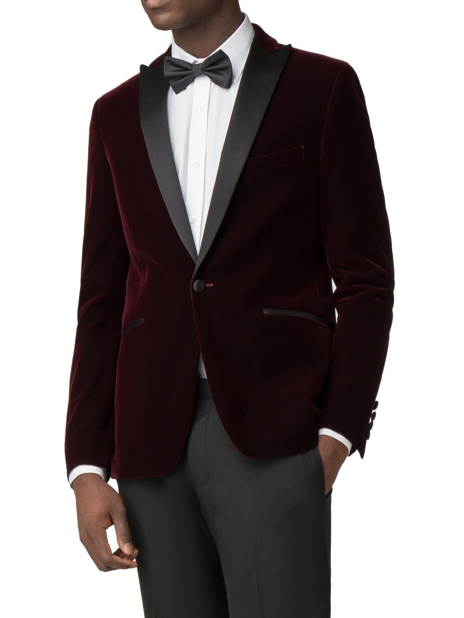 Limehaus Logan Merlot Velvet Dresswear Jacket