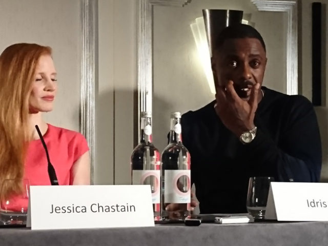 Molly Games press conference - Jessica Chastain and Idris Elba