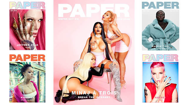 paper magazine iconic 2017 covers