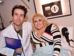 Nick Grimshaw and Rebel Wilson
