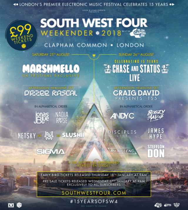 SOUTH WEST FOUR FESTIVAL poster