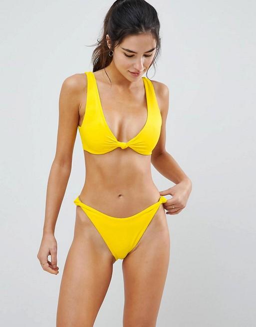 Knot Minimal Crop Bikini