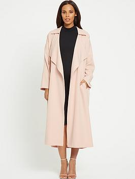 Rochelle Humes Maternity Coat &Ndash; Formal Frill Duster