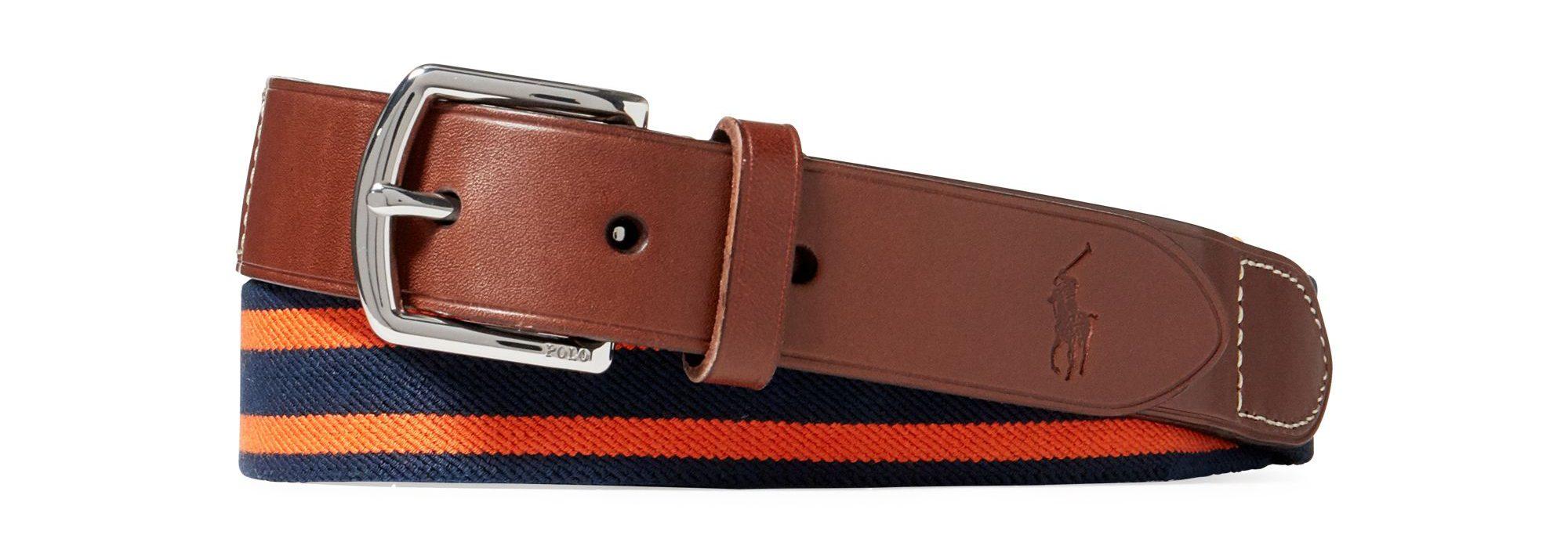 Striped Stretch Webbed Belt £59.00