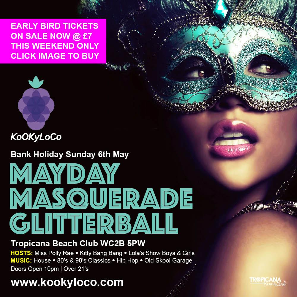 mayday masquerade glitterball at Kookyloco