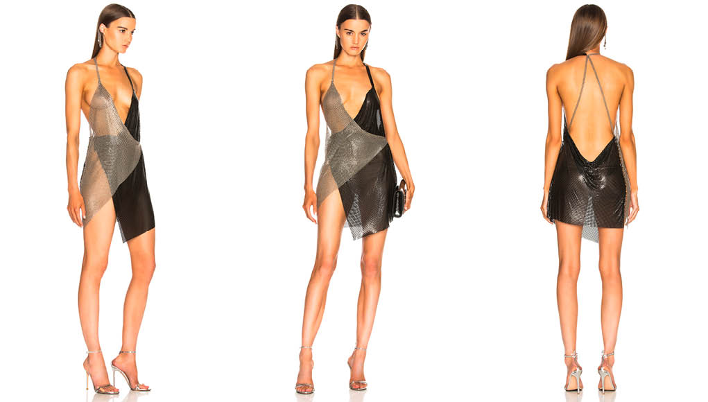 Fannie Schiavoni Metal Mesh Dress
