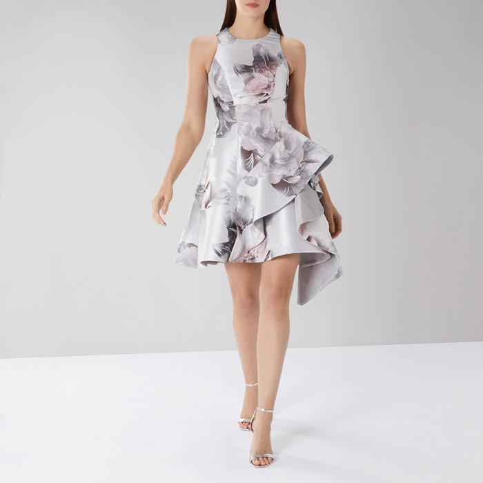 Tara Print Jacquard Dress
