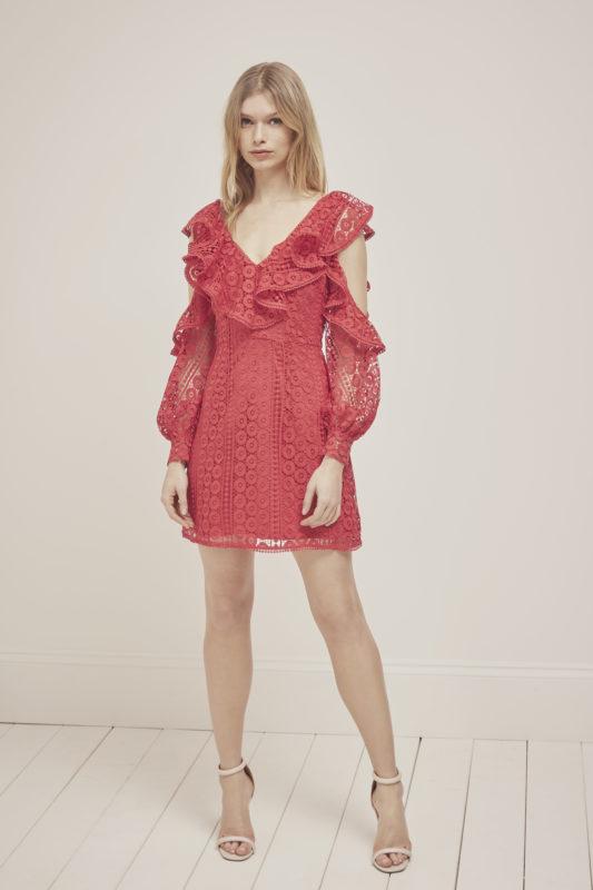 Massey Lace V-neck Dress