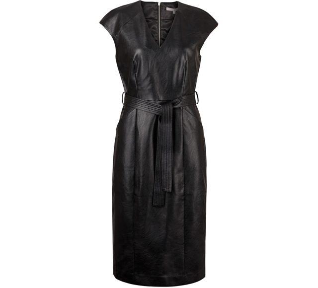 Bai Vegan Leather Midi Dress