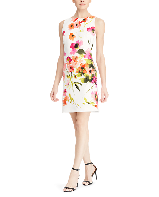 Floral Crepe Sleeveless Dress