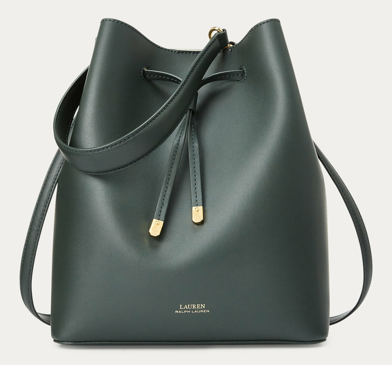Lauren Leather Debby Drawstring Bag