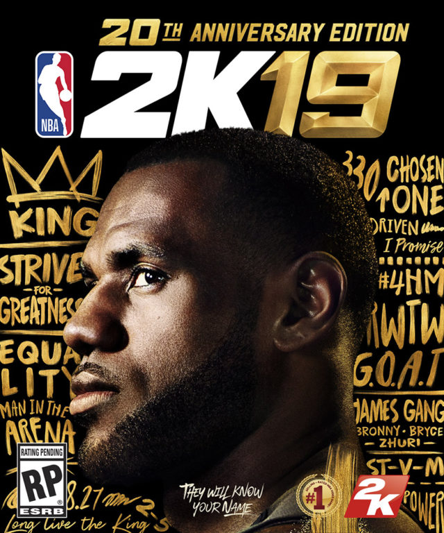 LeBron James NBA2K 20th Anniversary Cover