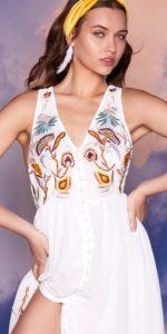 Nasty Gal Studio Farrah Embroidered Dress