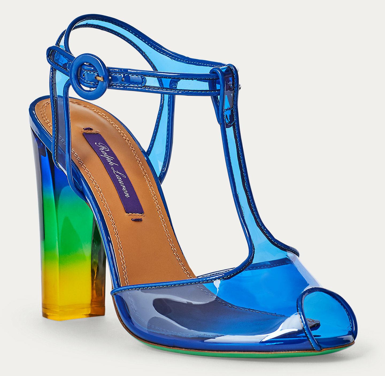 Ralph Lauren Collection Katy Dip-Dye T-Strap Sandal