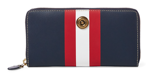 Striped Leather Wallet