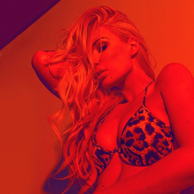 Iggy Azalea rocks leopard print bra for Fashion Nova