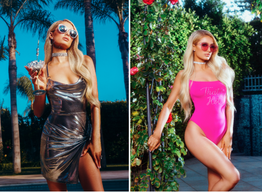 paris hilton x boohoo clothing line