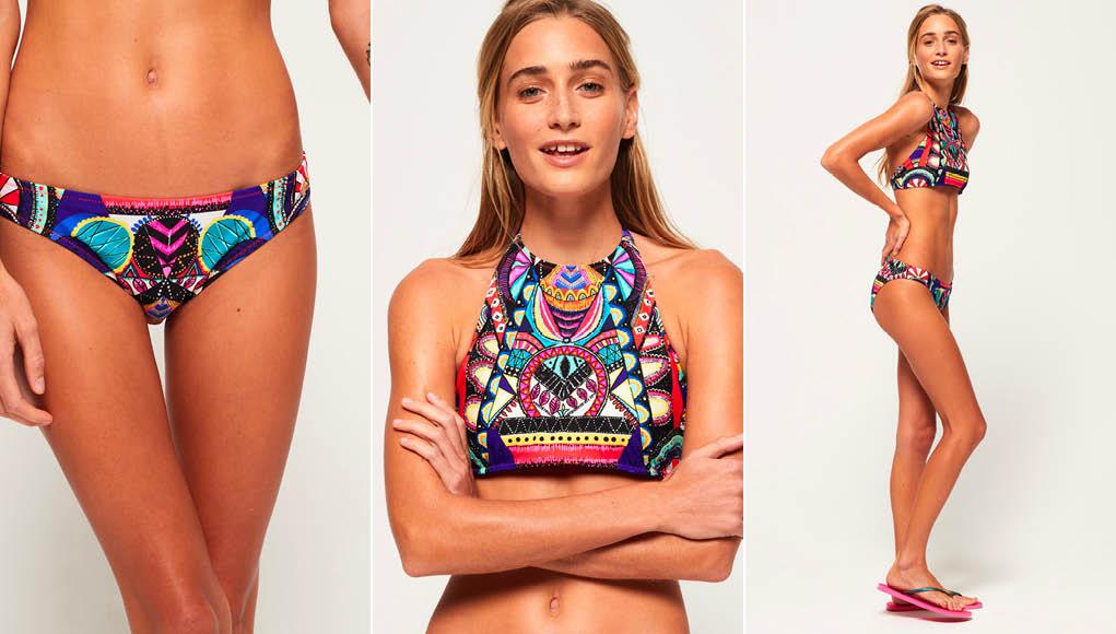 superdry Neon Tribal Bikini