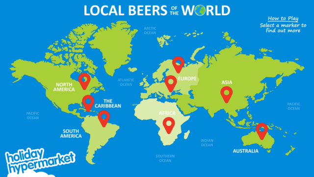 world map of beers