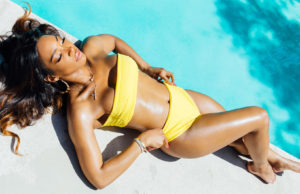 Malika Haqq serve up swimwear looks for PrettyLittleThing