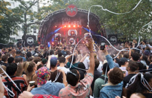 Major Lazer perform at Casa BACARDê at Powis Square Stage, Notting Hill Carnival, London.