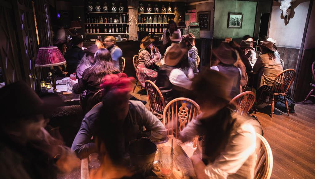 Moonshine Saloon Busy Bar Room