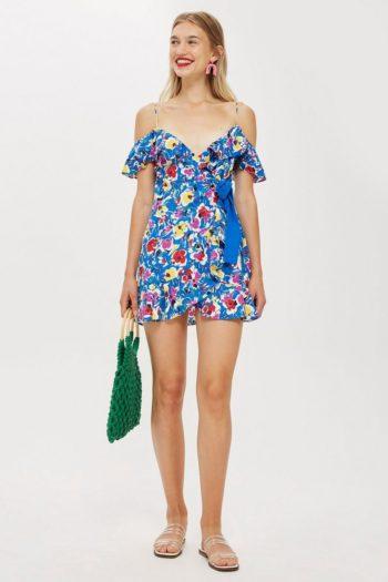 Strappy Floral Mini Dress
