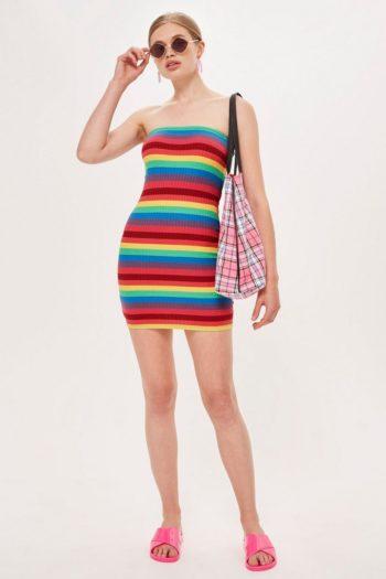 Topshop sale Rainbow Bandeau Dress