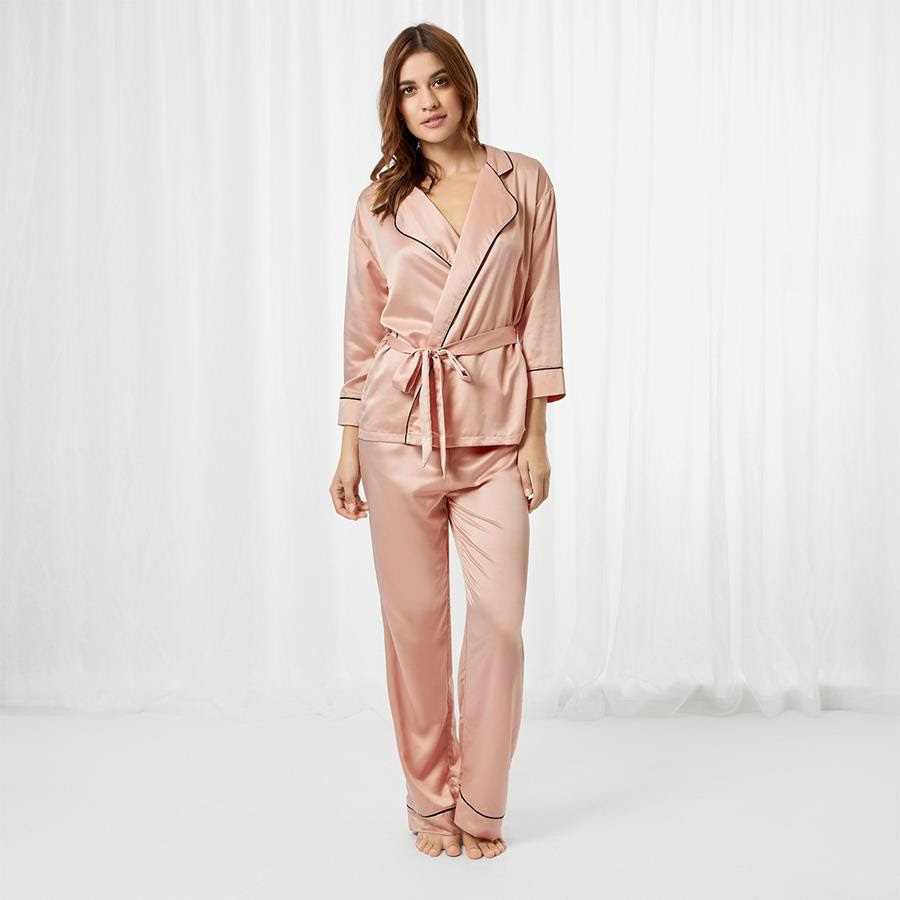 Bluebella Wren Shirt & Trouser Set - Rose Dust