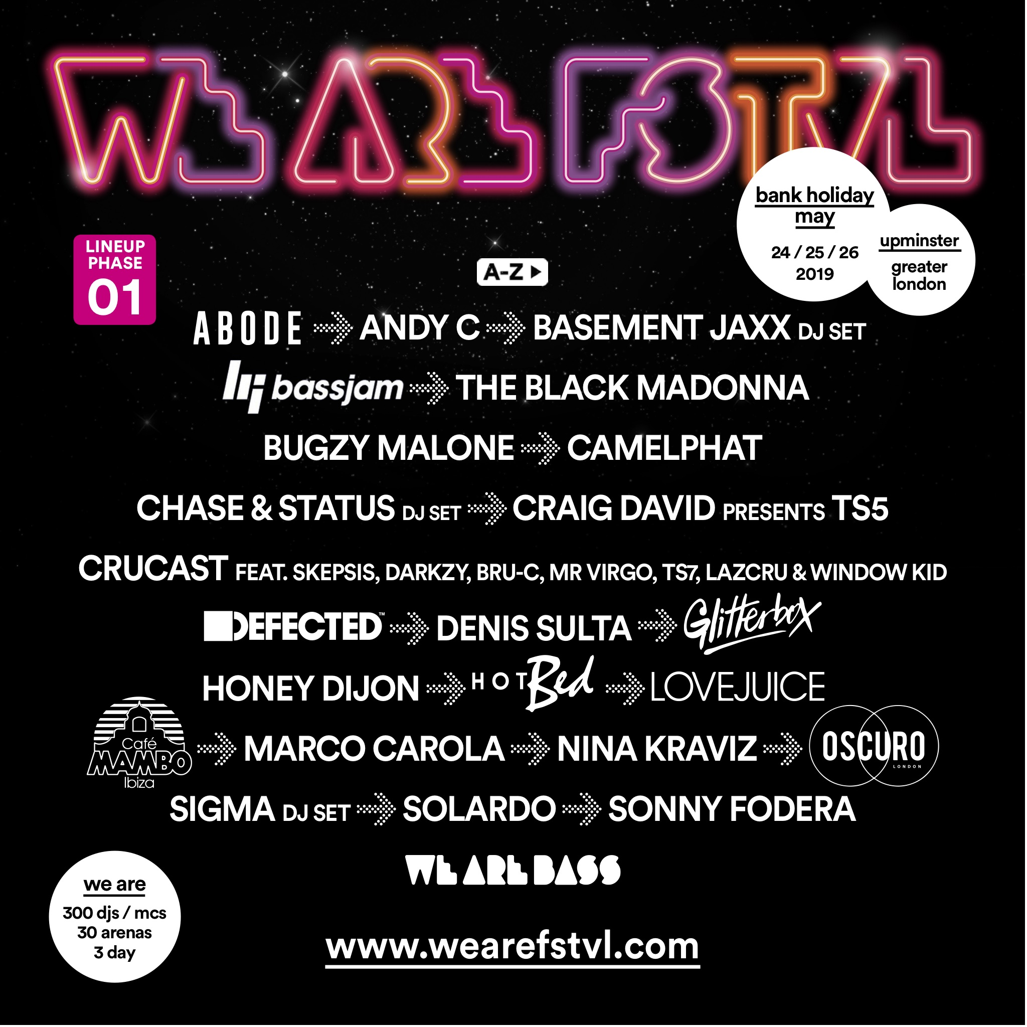 we are festival 2019 lineup