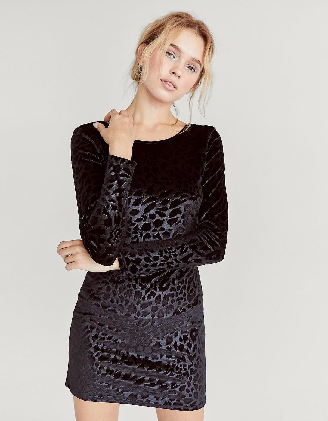 Leopard velvet dress