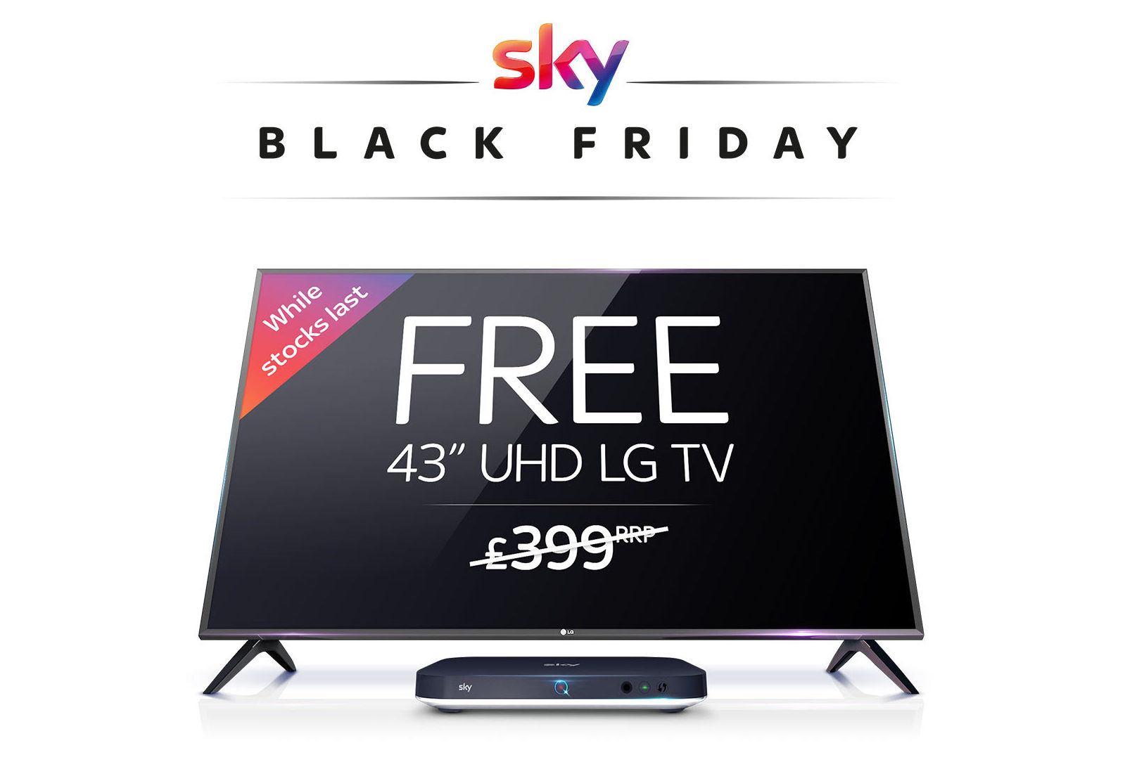 3629a8d5a SKY TV Black Friday – Free 43″ UHD LG TV with Sky Bundle offer £55 per month
