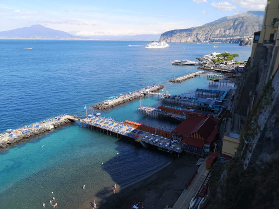 Sorrento by air and land