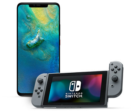 huawei mate20 pro with nintendo switch