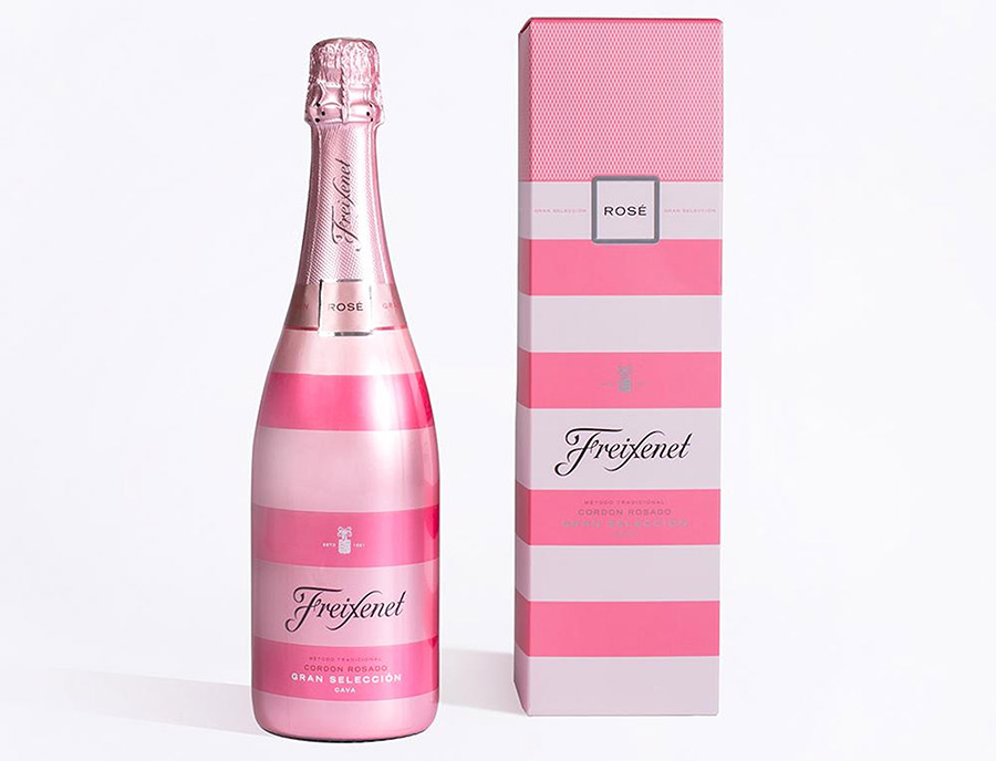 Freixenet limited-edition Cordon Rosado gift pack