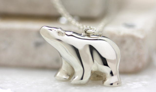 Tiny Polar Bear necklace