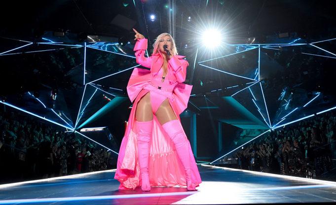 bebe rexha at Victorias secret fashion show