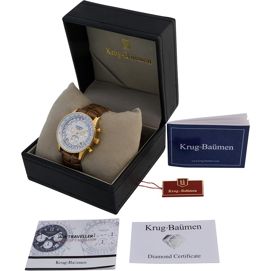 krug baumen diamond traveller watch