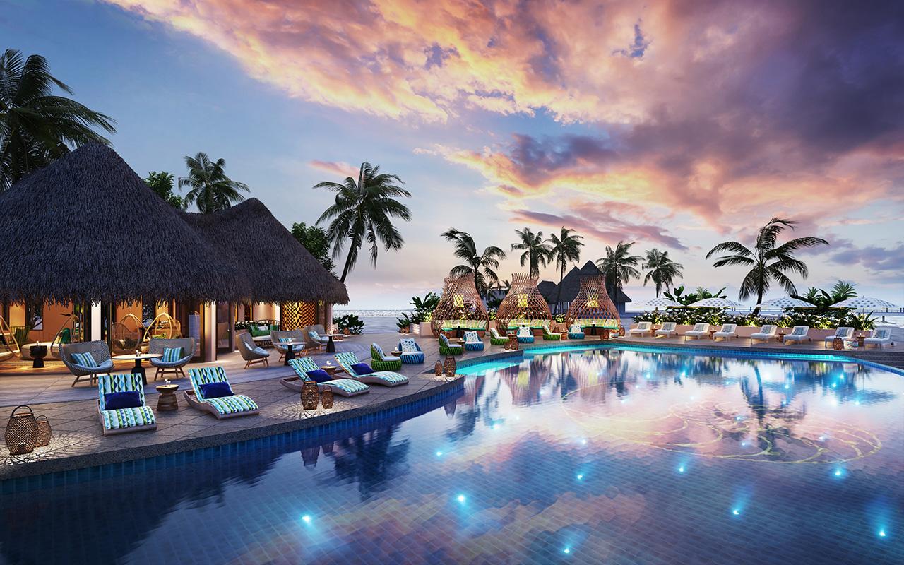 The Nautilus Maldives rendering pool