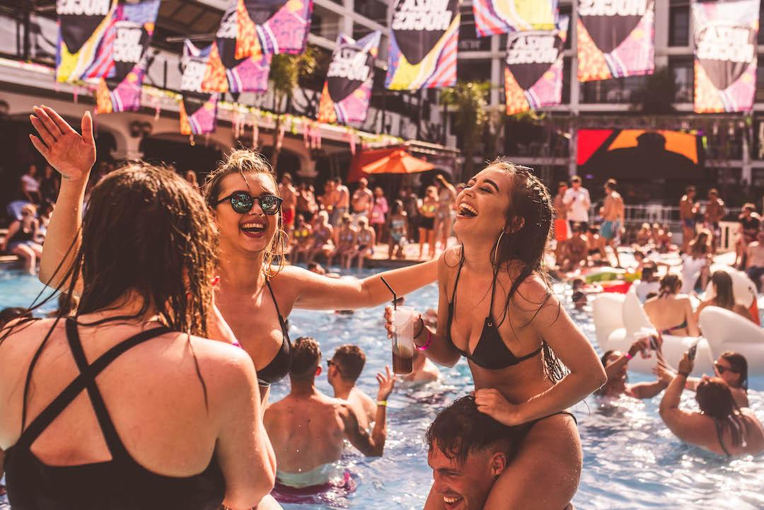 Ibiza Rocks pool parties