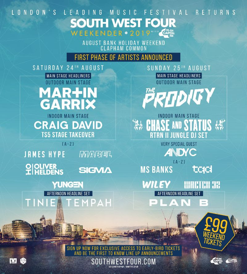 SW4 2019 lineup