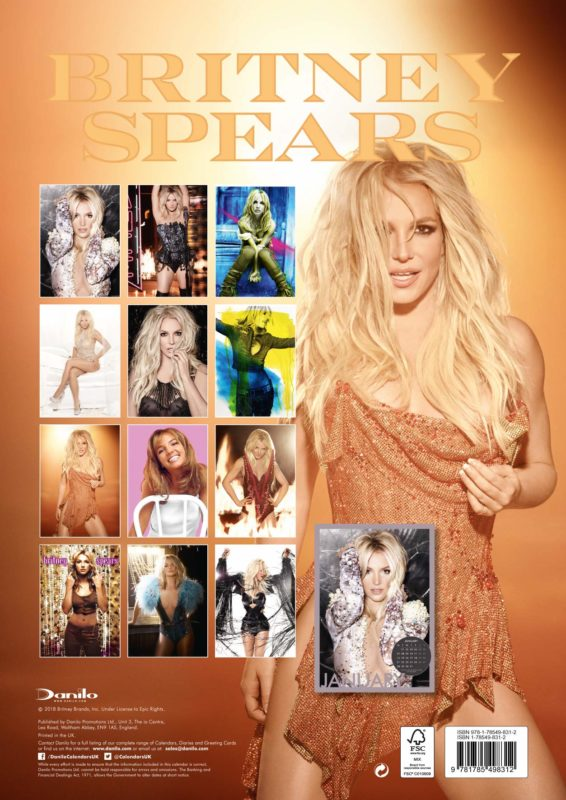 Britney Spears Official 2019 Calendar