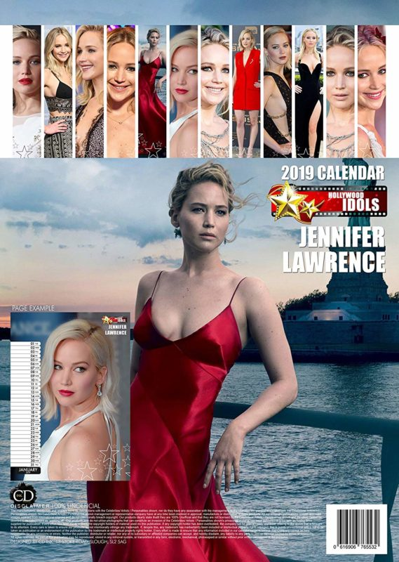 Jennifer Lawrence 2019 Calendar
