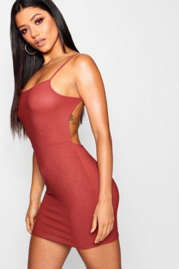 Low Scoop Back Bodycon Dress