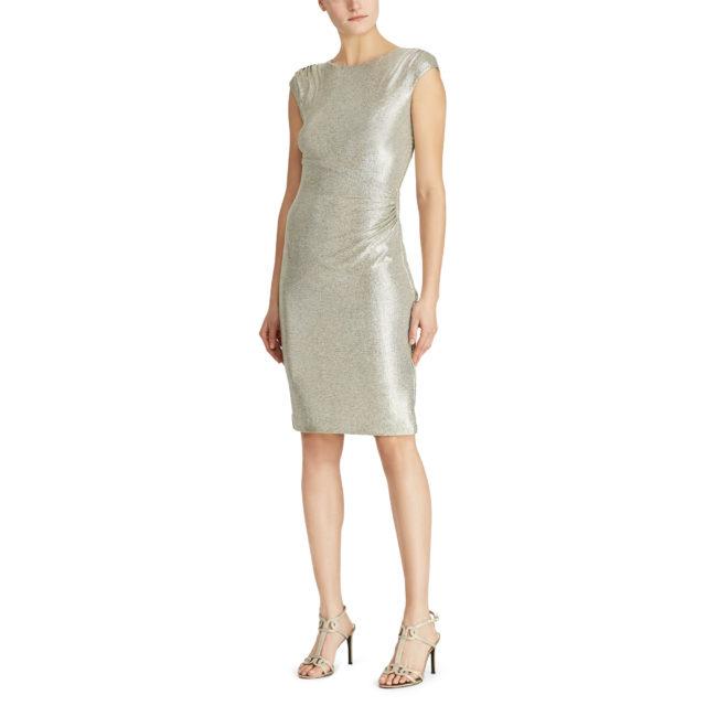 Metallic Stretch-Knit Dress
