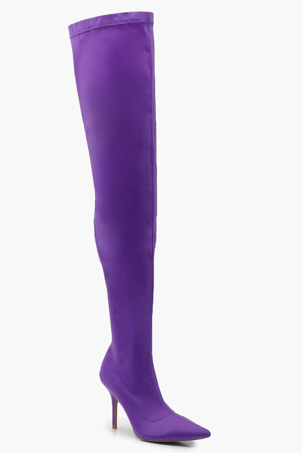 Stiletto Heel Thigh High Boots