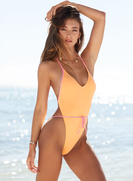 Lorena Rae – Open-Side High-Leg One-Piece