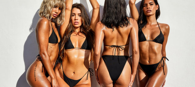 Missguided one pound bikini black