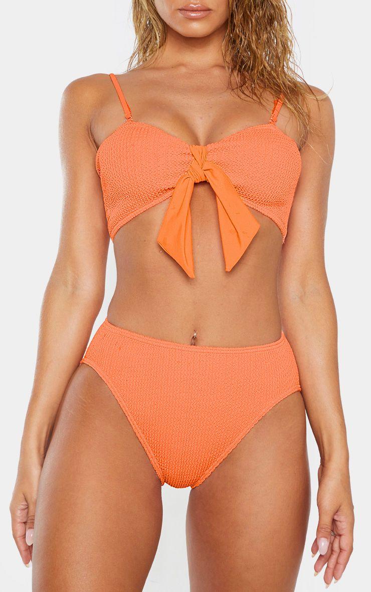 Crinkle High Waist Bikini Bottom