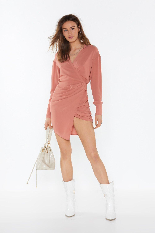 Love Shirts Wrap Dress